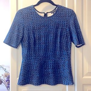 LORD&TAYLOR SHORT SLEEVE PEPLUM TOP SIZE S…